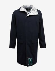 New Raf Simons Navy Blue Parka With Silver Interior Bnwt Rrp Andpound1695