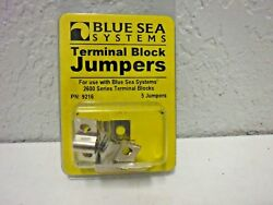 Blue Sea Systems Nickle Plated Brass Terminal Block Jumpers 9217 5 Jumpers