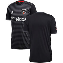 Adidas Dc United Mls 2018 Soccer Home Jersey Brand New Black / Gray / Silver