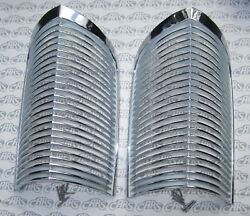 1963 1964 Buick Riviera Chrome Parking Lamp Grills. Oem 5954200. Matched Pair