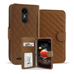 Luxury PU Leather Wallet Flip Card Case For LG Aristo 2  LG Tribute Dynasty