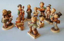 Hummel 10 Piece Orchestra Vintage Figurines By Goebel