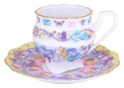 Alice In Wonderland Butterfly Cafe Cup And Saucer Tea Set Demitas Cafe For Spresso