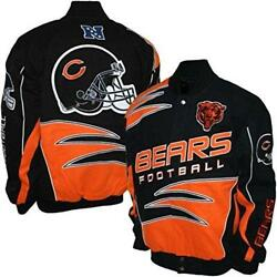 Chicago Bears Mens Twill Embroidered Jacket Coat Small
