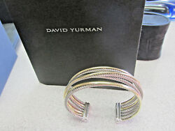 New David Yurman 7 Inch 18k And Ss Cuff Bangle Bracelet W Box And Paper Make Offer