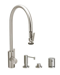 Waterstone 5700-4-sn Contemporary Plp Extended Reach Pull Down Faucet - 4pc