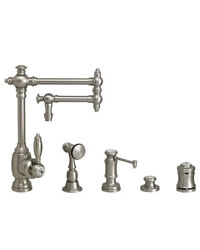 Waterstone 4100-12-4-sb Towson Kitchen Faucet - 12 Articulated Spout - 4pc