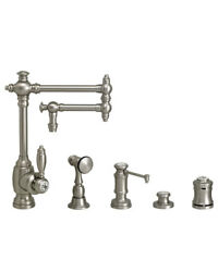 Waterstone 4100-12-4-sn Towson Kitchen Faucet - 12 Articulated Spout - 4pc