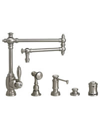 Waterstone 4100-18-4-pb Towson Kitchen Faucet - 18 Articulated Spout - 4pc