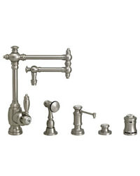Waterstone 4100-12-4-pb Towson Kitchen Faucet - 12 Articulated Spout - 4pc