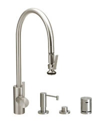 Waterstone 5700-4-pb Contemporary Plp Extended Reach Pull Down Faucet - 4pc