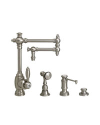 Waterstone 4100-12-3-pb Towson Kitchen Faucet - 12 Articulated Spout - 3pc
