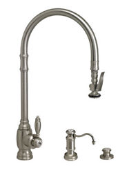 Waterstone 5500-3-bln Traditional Plp Extended Reach Pull Down Faucet - 3pc