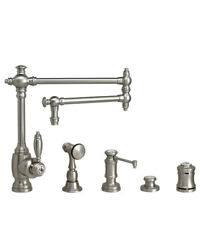Waterstone 4100-18-4-ch Towson Kitchen Faucet - 18 Articulated Spout - 4pc