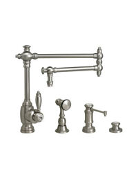 Waterstone 4100-18-3-vb Towson Kitchen Faucet - 18 Articulated Spout - 3pc