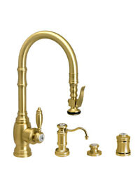 Waterstone 5200-4-orb Traditional Plp Prep Size Pull Down Faucet - 4pc. Suite