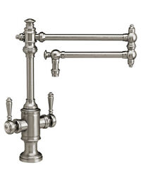 Waterstone 8010-18-sn Towson Two Handle Kitchen Faucet - 18 Articulated Spout