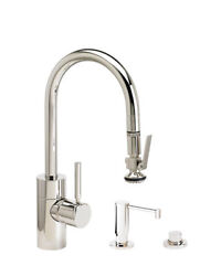 Waterstone 5930-3-ch Contemporary Plp Prep Size Pull Down Faucet - 3pc. Suite