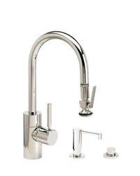 Waterstone 5930-3-sc Contemporary Plp Prep Size Pull Down Faucet - 3pc. Suite