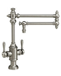 Waterstone 8010-18-pb Towson Two Handle Kitchen Faucet - 18 Articulated Spout