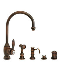 Waterstone 4300-4-wb Hampton Kitchen Faucet - 4pc. Suite Weathered Brass