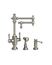 Waterstone 8010-12-2-dac Towson Two Handle Kitchen Faucet - 2pc. Suite
