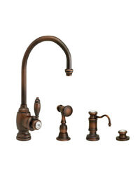 Waterstone 4900-3-wb Hampton Prep Faucet - 3pc. Suite Weathered Brass