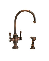 Waterstone 8030-1-cb Hampton Two Handle Kitchen Faucet With Side Spray