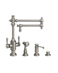 Waterstone 8010-18-3-tb Towson Two Handle Kitchen Faucet - 3pc. Suite