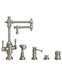 Waterstone 8010-12-4-wb Towson Two Handle Kitchen Faucet - 4pc. Suite