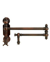 Waterstone 3150-pb Traditional Wall Mounted Pot Filler - Cross Handle