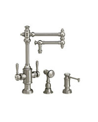 Waterstone 8010-12-2-ch Towson Two Handle Kitchen Faucet - 2pc. Suite