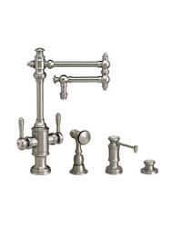 Waterstone 8010-12-3-ch Towson Two Handle Kitchen Faucet - 3pc. Suite