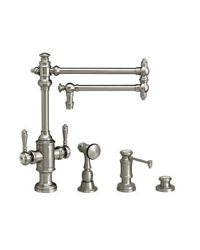 Waterstone 8010-18-3-ch Towson Two Handle Kitchen Faucet - 3pc. Suite
