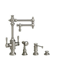 Waterstone 8010-12-3-sn Towson Two Handle Kitchen Faucet - 3pc. Suite