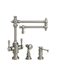 Waterstone 8010-18-2-sn Towson Two Handle Kitchen Faucet - 2pc. Suite