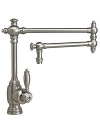 Waterstone 4100-18-ab Towson Kitchen Faucet - 18 Articulated Spout