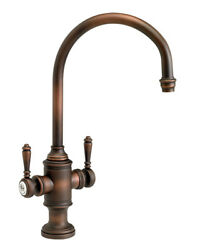 Waterstone 8030-ab Hampton Two Handle Kitchen Faucet Antique Brass
