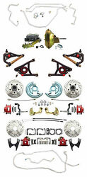 1964-72 Gm A Body Chevelle Gto Front And Rear Disc Brake Kit Deluxe Package Lines