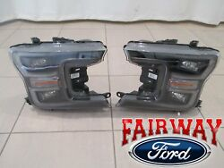 18 Thru 20 F-150 Oem Ford Black Special Edition Led Head Lamps Lights Pair - New