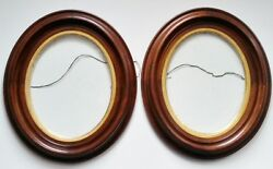 Ogee Walnut Picture Frames Civil War Frame Late 1800's - Matched Pair, Nice