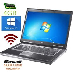 Dell Latitude D630 Laptop 80gb With 4gb Ram- Windows 10 Wifi Computer See Models