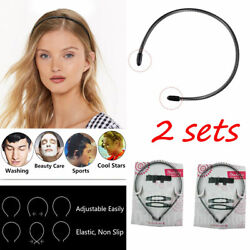 2sets Metal Flexible Spiral Coil Wire Headband Hairband Bobby Pins Comb Clips