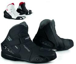 Motorcycle Biker Ventilated Race Touring Sport Leather Boots A-pro