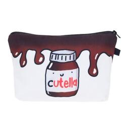 NOVELTY WOMENS GIRLS UNIQUE Cutella Makeup Bag PERFECT GIFT FOR TEEN
