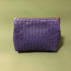 Bottega Veneta Authentic Leather Bag Purse Clutch Violet Borsa Pelle 9.510