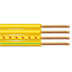 1000' 10/3 Flat Yellow Submersible Cable With Ground Well Pump Wire 600v