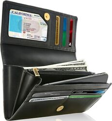 Genuine Leather Wallets For Women#x27;s Ladies Wallet Clutch Accordion RFID Blocking $25.99