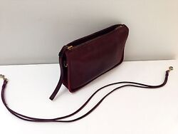 COACH Vintage Red Cashin Leather Clutch Bag NYC Convertible