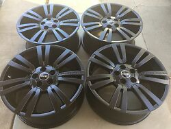 20 New Oem Factory Made In Germany Range Rover Matte Black Supercharged Wheels.